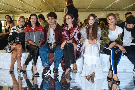 Veronica Ferraro, Guest, Guest, Erika Boldrin, Nicole Rossetti, Cristina Marino in the front row
