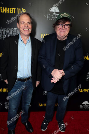 Tom Ortenberg, CEO of Briarcliff Entertainment, Michael Moore, Director/Writer/Producer,