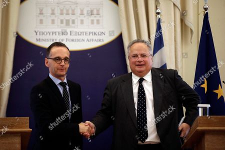 German Foreign Minister Heiko Maas visit to Athens