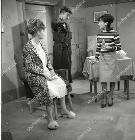 Sandra Gough (as Irma Ogden), Ivan Beavis (as Harry Hewitt) and Jennifer Moss (as Lucille Hewitt)