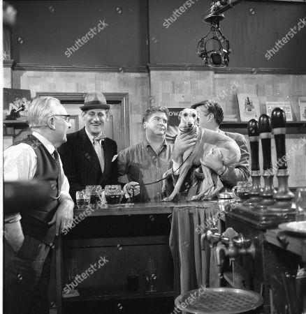 Arthur Leslie (as Jack Walker), Gordon Rollings (as Charlie Moffitt), Peter Adamson (as Len Fairclough) and Ivan Beavis (as Harry Hewitt)