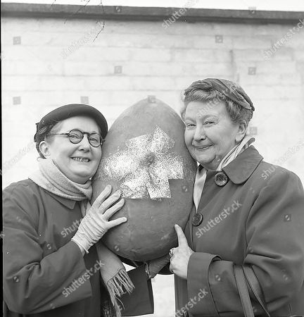 Easter Publicity Shots featuring Lynne Carol (as Martha Longhurst) and Margot Bryant (as Minnie Caldwell)