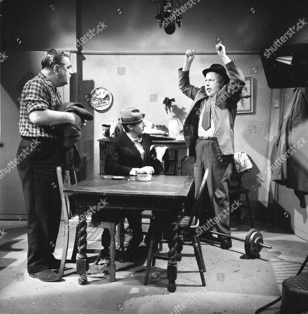 Bernard Youens (as Stan Ogden), Gordon Rollings (as Charlie Moffitt) and Patrick McAlinney (as Tickler Murphy)