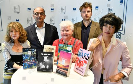 Judges Kwame Anthony Appiah (2-L), Val McDermid (C), Leo Robson (2-R), Jacqueline Rose (L) and Leanne Shapton (L) hold nominated books at a photo-call for the shortlist for the Man Booker Prize 2018 in London, Britain, 20 September 2018. The shortlist comprises Milkman by Anna Burns, Washington Black by Esi Edugyan, Everything Under by Daisy Johnson, The Mars Room by Rachel Kushner, The Overstory by Richard Powers and The Long Take by Robin Robertson.