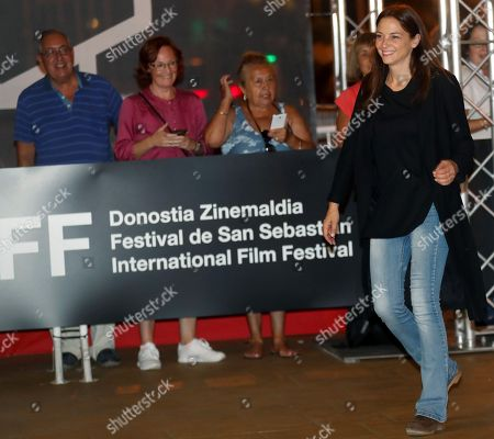 Spanish actress Leonor Watling poses upon her arrival on the eve of the beginning of the 66th edition of San Sebastian international Film Festival, in San Sebastian, Basque Country, northern Spain, 20 September 2018.