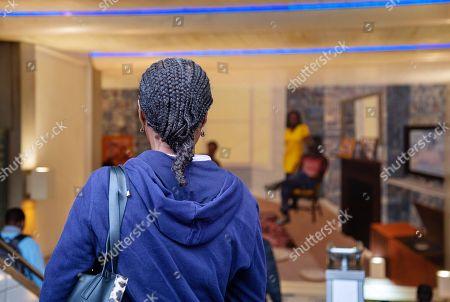 Editorial photo of Njideka Akunyili Crosby, Art on the Underground photocall, Brixton station, London, UK - 20 Sep 2018