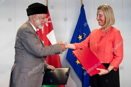 EU - Oman Cooperation Arrangement signing, Brussels