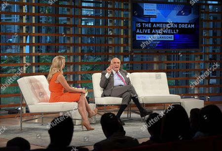 Julia La Roche, Ken Langone. Home Depot co-founder Ken Langone, right, talks with moderator Julia La Roche during the Yahoo Finance All Markets Summit: A World of Change at The TimesCenter, in New York
