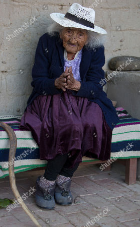 117-year-old Julia Flores Colque speaks during an interview at her home in Sacaba, Bolivia. The previously world's oldest person, a 117-year-old Japanese woman, died earlier this year. Her passing apparently left Flores Colque as the world's oldest living person