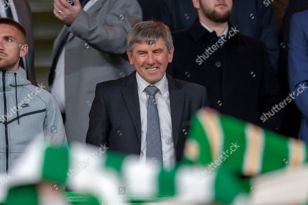 Former Liverpool player Peter Beardsley in the crowd before the UEFA Europa League group stage match between Celtic FC and Rosenborg BK at Celtic Park, Glasgow