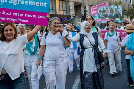 Editorial photo of Women march in Jerusalem for Peace, Israel - 20 Sep 2018