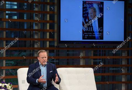 Stock Photo of Former White House Press Secretary Sean Spicer participates in the Yahoo Finance All Markets Summit: A World of Change at The TimesCenter, in New York