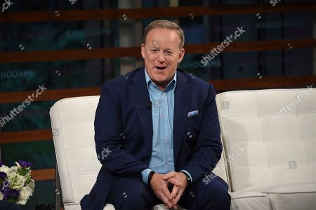 Former White House Press Secretary Sean Spicer participates in the Yahoo Finance All Markets Summit: A World of Change at The TimesCenter, in New York