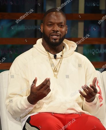 Stock Image of The Imagination Agency CEO Martellus Bennett participates in the Yahoo Finance All Markets Summit: A World of Change at The TimesCenter, in New York