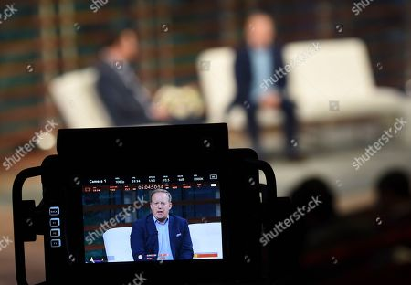 Rick Newman, Sean Spicer. Former White House Press Secretary Sean Spicer, right, talks with journalist Rick Newman during the Yahoo Finance All Markets Summit: A World of Change at The TimesCenter, in New York