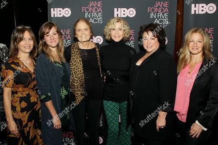 Lisa Heller (EVP OF HBO Documentary Films), Emma Pildes (Proucer), Gloria Steinem, Jane Fonda, Susan Lacy (Director, Producer), Jessica Levin (Proucer)