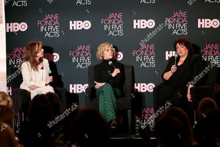 Paula Weinstein (Moderator), Jane Fonda, Susan Lacy (Director, Producer)