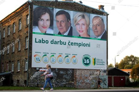 Editorial photo of Latvia Elections Campaign, Riga - 20 Sep 2018