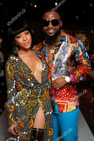 Stock Picture of Thando Thabethe and Cassper Nyovest
