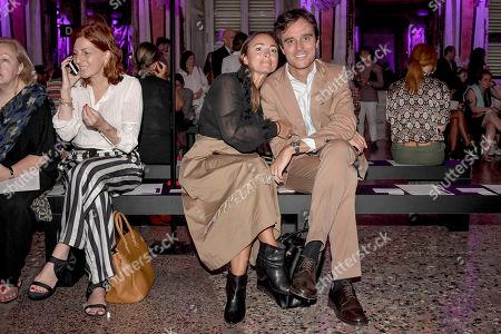 Camila Raznovich and Emanuele Farneti