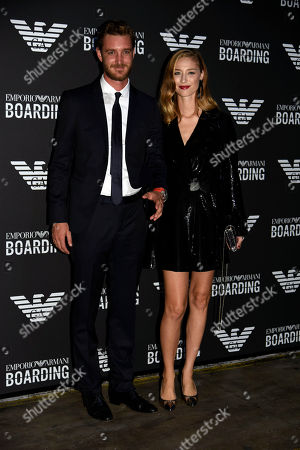 Pierre Casiraghi and Beatrice Borromeo in the front row