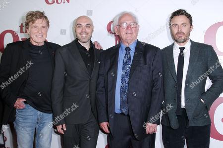 Robert Redford, David Lowery, John Hunt and Casey Affleck