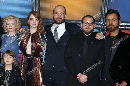 Julia Garner, Emma Stone, Patrick Somerville, Jonah Hill, Justin Theroux