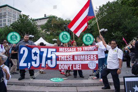 Rally remembering Hurricane Maria and Puerto Rico, New York