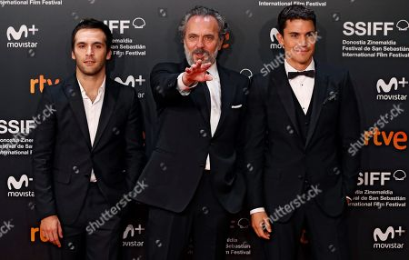 Spanish actors (L-R) Ricardo Gomez, Jose Coronado and Alex Gonzalez pose for the photographers during the opening gala at the 66th edition of San Sebastian International Film Festival (SSIFF), in San Sebastian, Basque Country, northern Spain, 21 September 2018. The 66th edition of the SSIFF runs from 21 to 29 September.