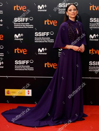 Spanish actress Leonor Watling poses for the photographers during the opening gala at the 66th edition of San Sebastian International Film Festival (SSIFF), in San Sebastian, Basque Country, northern Spain, 21 September 2018. The 66th edition of the SSIFF runs from 21 to 29 September.