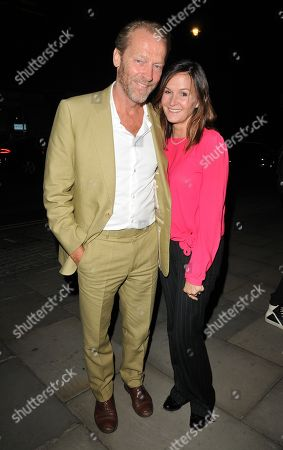 Stock Image of Iain Glen and Charlotte Emmerson