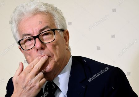 British writer Ken Follett attends a press conference during the 13th edition of the Hay Festival in Segovia, Spain, 21 September 2018.