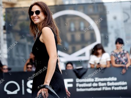 Spanish actress Leonor Watling poses for the photographers upon arrival at the 66th edition of San Sebastian international Film Festival (SSIFF), in San Sebastian, Basque Country, northern Spain, 21 September 2018. The SSIFF will be held from 21 to 29 September 2018.
