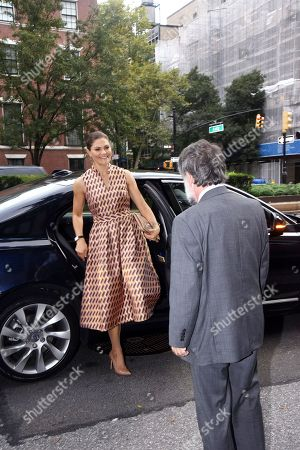 Editorial image of Crown Princess Victoria visit to New York, USA - 21 Sep 2018