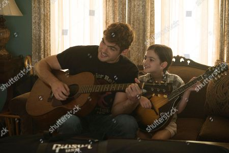 Stock Image of Alex Roe as Liam, Abby Ryder Fortson as Billy