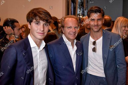 Stock Picture of Filippo Della Valle, Andrea della Valle and Johannes Huebl