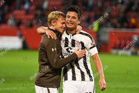 Mats Moller Daehli (FC ST Pauli #14) and Ryo Miyaichi (FC ST Pauli #12), FC Ingolstadt 04 -  FC St Pauli, Football, 2 Bundesliga, 21.09.2018 DFL REGULATIONS PROHIBIT ANY USE OF PHOTOGRAPHS AS IMAGE SEQUENCES AND/OR QUASI-VIDEO