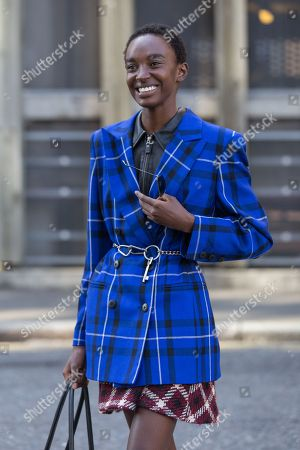 Stock Photo of Model Nicole Atieno after Christopher Kane