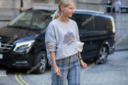 Editorial image of Street Style, Spring Summer 2019, London Fashion Week, UK  - 17 Sep 2018