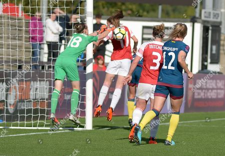 Claire Rafferty of West Ham Ladies not shown scores a goal