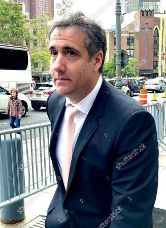 Michael Cohen visits the Federal Courthouse, New York