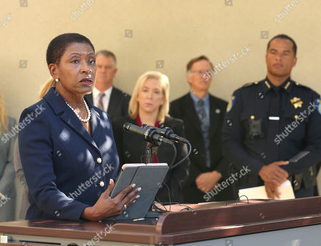 Stock Photo of Diana Becton, Anne Marie Schubert, Daniel Hahn. Contra Costa County District Attorney Diana Becton discusses the arrest of Roy Charles Waller, who is suspected of committing a series of rapes, during a news conference, in Sacramento, Calif. Waller, 58, was arrested on Thursday, Sept. 20, by Sacramento Police, and is suspected of committing at least 10 rapes across Northern California between 1991 and 2006. In the background is Sacramento County District Attorney Anne Marie Schubert, center, Sacramento Police Chief Daniel Hahn, right