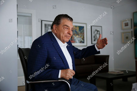 "HOLD -Mario Kreutzberger, also known as Don Francisco speaks during an Associated Press interview, in the Brickell neighborhood of Miami. Kreutzberger is a well-known television personality for the show ""Don Francisco Te Invita"