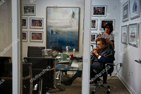 "Mario Kreutzberger, Maria Lok. Mario Kreutzberger, also known as Don Francisco sits while Maria Lok, styles Kreutzberger's hair before he speaks during an Associated Press interview, in the Brickell neighborhood of Miami. Kreutzberger is a well-known television personality for the show ""Don Francisco Te Invita"
