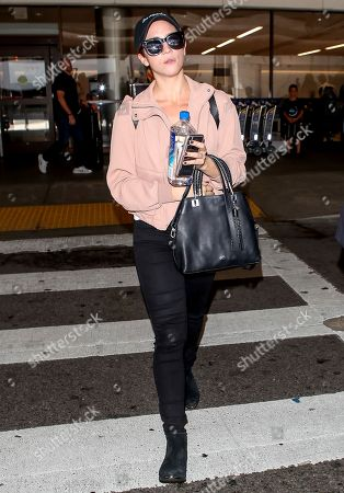 Brittany Snow at LAX International Airport, Los Angeles