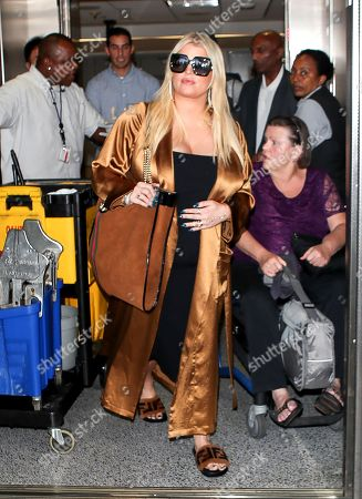 Jessica Simpson and Eric Johnson at LAX International Airport, Los Angeles