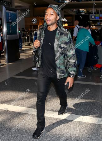 John Legend at LAX International Airport, Los Angeles
