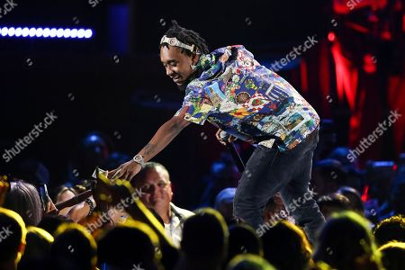 Slim Jxmmi of the group Rae Sremmurd perform at the 2018 iHeartRadio Music Festival Day 1 held at T-Mobile Arena, in Las Vegas