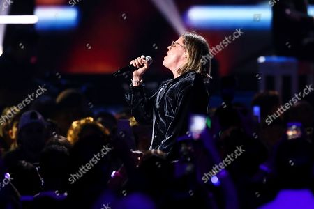 Conrad Sewell performs at the 2018 iHeartRadio Music Festival Day 1 held at T-Mobile Arena, in Las Vegas