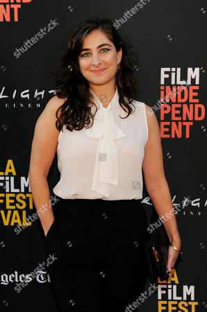 """Stock Photo of Sara Zandeih, director/co-writer of """"Simple Wedding,"""" poses at the premiere of the film at the 2018 Los Angeles Film Festival, in Culver City, Calif"""